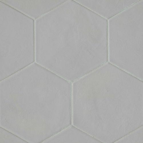 Solid Grey Matte Hexagon Floor Wall Tile