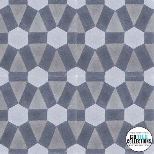 Encaustic Cement Tile - Diamond