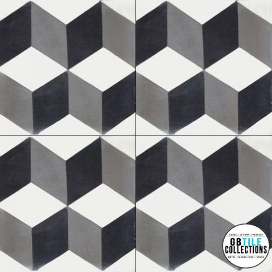 Original Mission Cement Field Tile Harlequin
