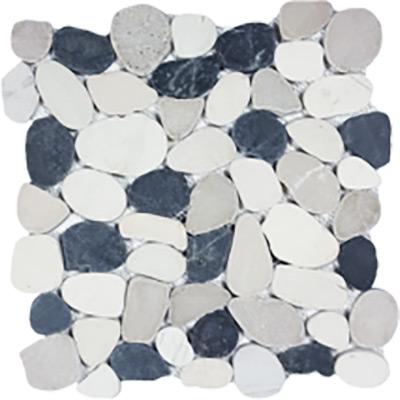 Tesoro Ocean Stones Black White