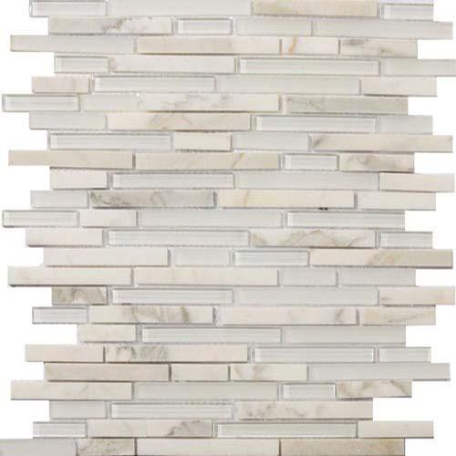 Emser Tile Lucente Ambrato Linear Stone Gl Mosaic Blends