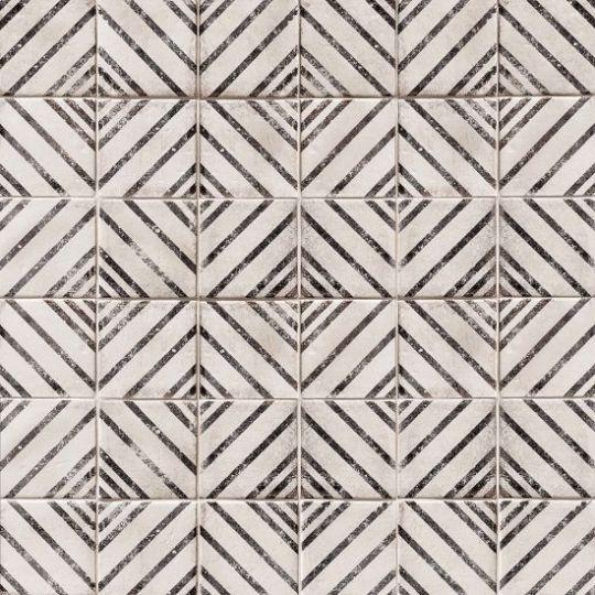 Bedrosians Vivace Rice Motif 4 X 4 Gloss Decorative Tile