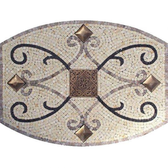 Backsplash medallions gallery of examples of custom tile for Backsplash medallion