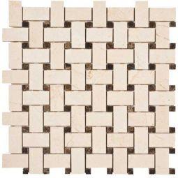 Tesoro Patara Crema Marfil Honed Random Linear Mosaic