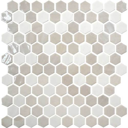 Daltile Uptown Glass Mosaics Alabaster Hexagon Gbtile Collections