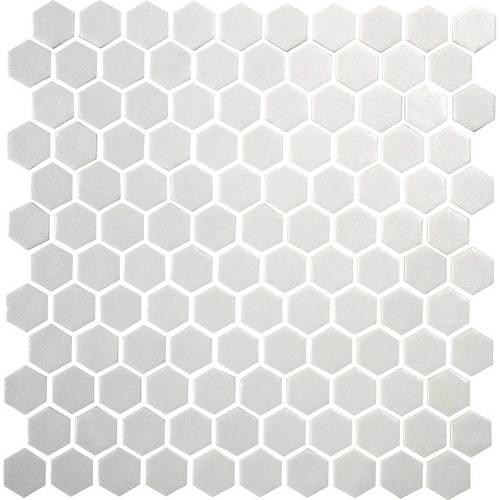 Daltile Uptown Matte Alabaster Hexagon Glass Mosaic