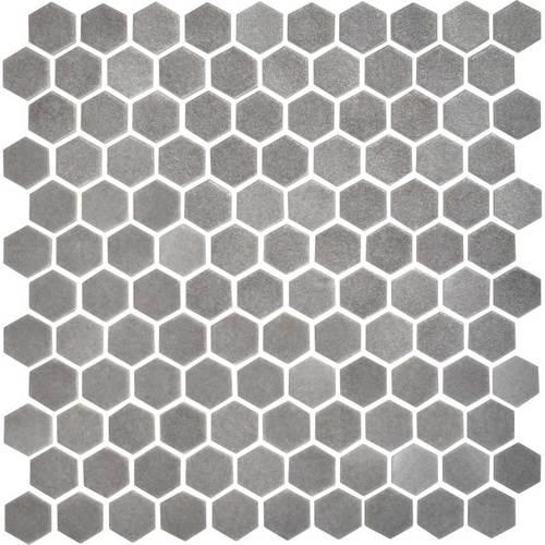 Daltile Uptown Glass Mosaics Matte Frost Moka Hexagon Gbtile